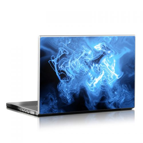 Blue Quantum Waves Laptop Skin