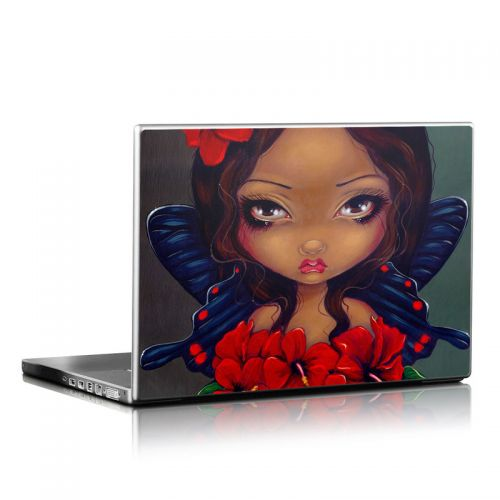 Red Hibiscus Fairy Laptop Skin