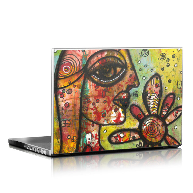Laptop Skin design of Modern art, Art, Painting, Acrylic paint, Psychedelic art, Visual arts, Watercolor paint, Illustration, Paint, Style with green, black, red, white, orange, yellow colors