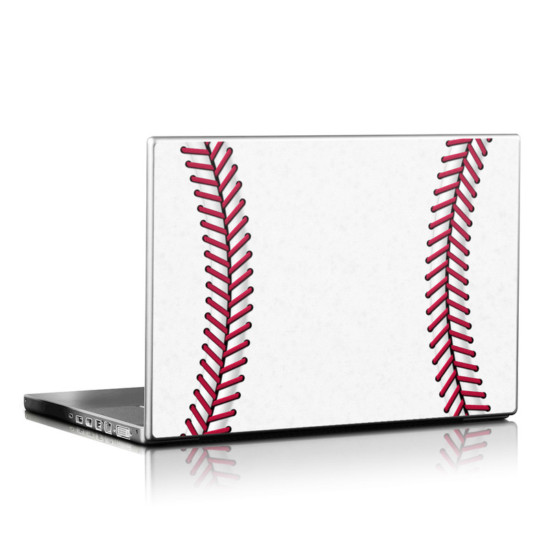 Laptop Skin design of Red, Line, Pink, Parallel, Paper with white, red colors