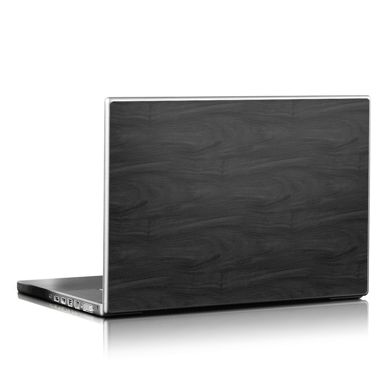 Black Woodgrain Laptop Skin