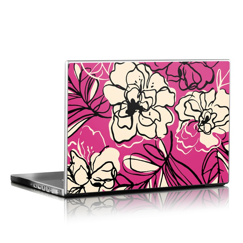 Black Lily Laptop Skin