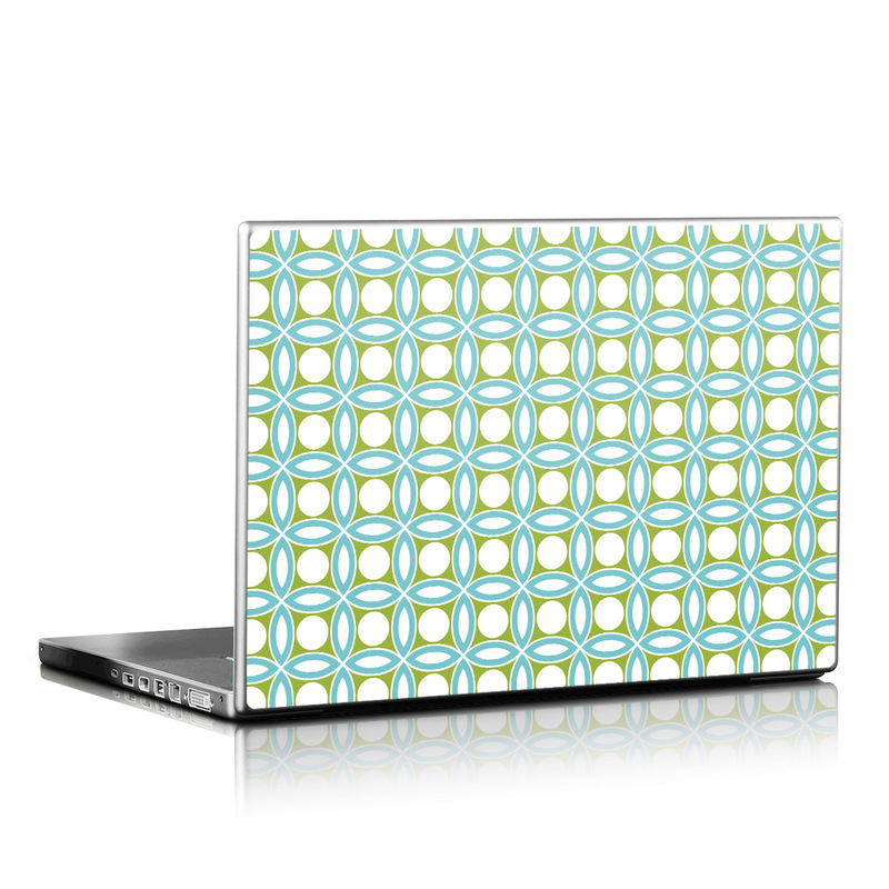 Blue Geo Laptop Skin
