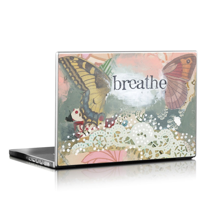 Laptop Skin design of Butterfly, Moths and butterflies, Insect, Pollinator, Organism, Illustration, Brush-footed butterfly, Art, Fictional character, Wildflower with pink, brown, white, black, red, blue, green colors
