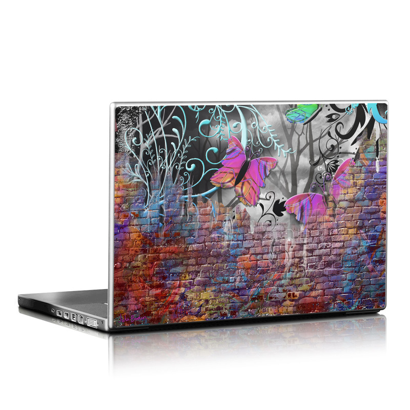 Butterfly Wall Laptop Skin