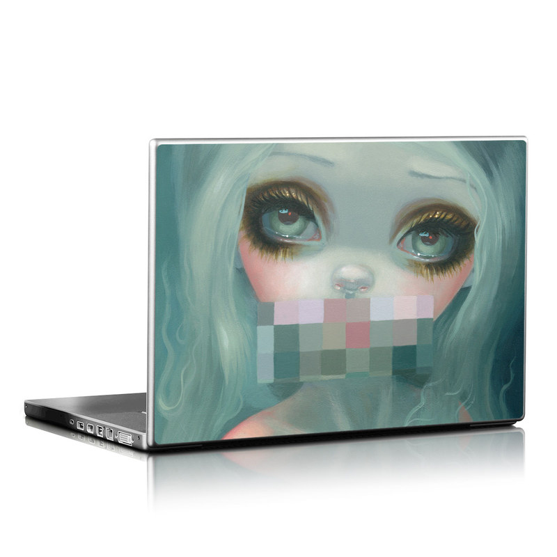 Censored Smile Laptop Skin