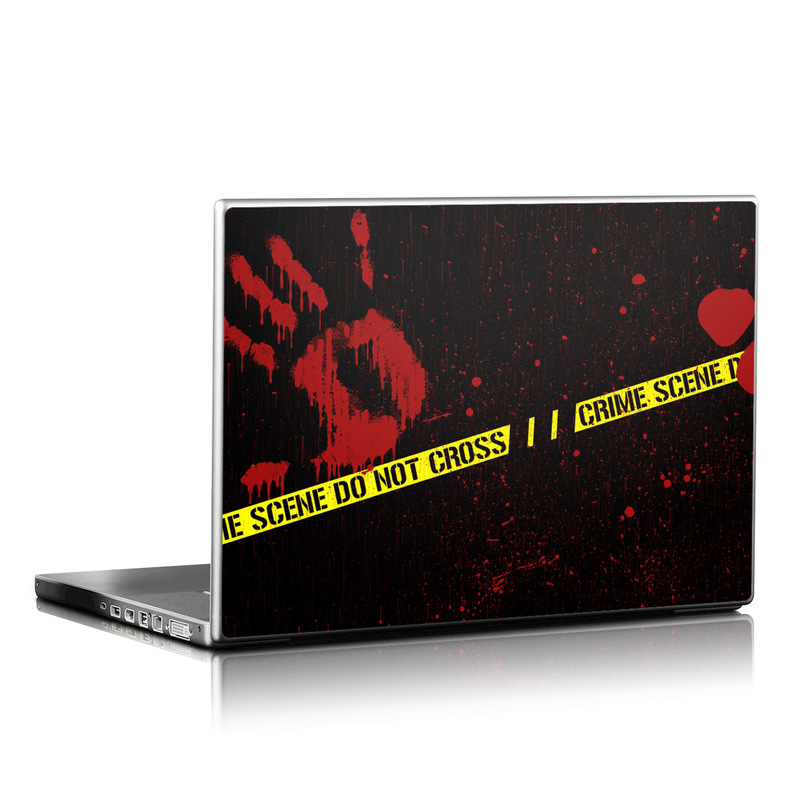 Laptop Skin design of Red, Black, Font, Text, Logo, Graphics, Graphic design, Room, Carmine, Fictional character with black, red, green colors