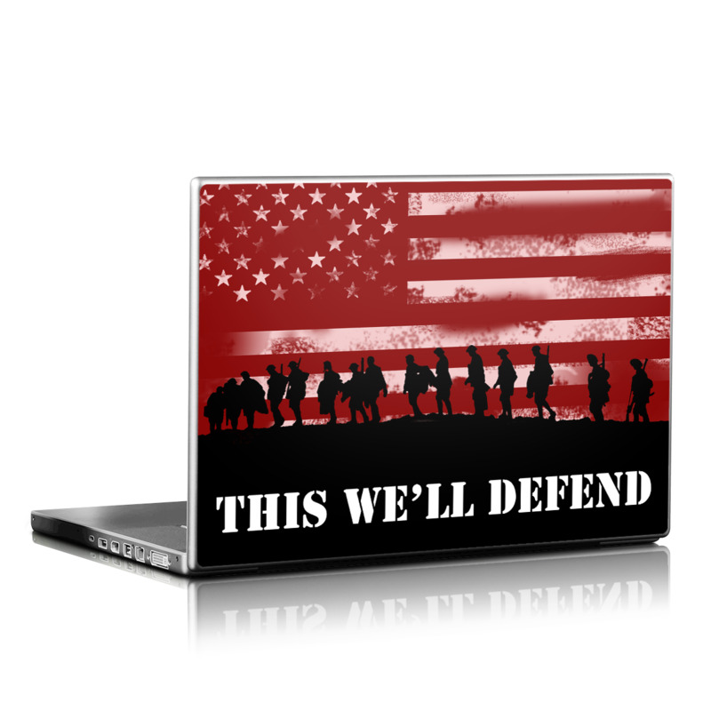Laptop Skin design of Red, Flag, Font, Veterans day, Crowd, Illustration, Silhouette, Red flag with red, black, gray, pink colors