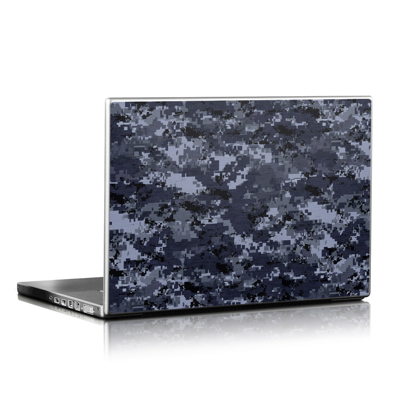 Laptop Skin design of Military camouflage, Black, Pattern, Blue, Camouflage, Design, Uniform, Textile, Black-and-white, Space with black, gray, blue colors