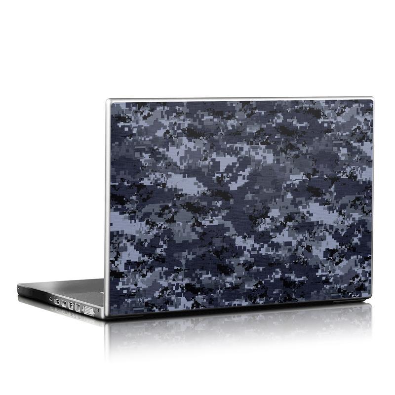 Digital Navy Camo Laptop Skin