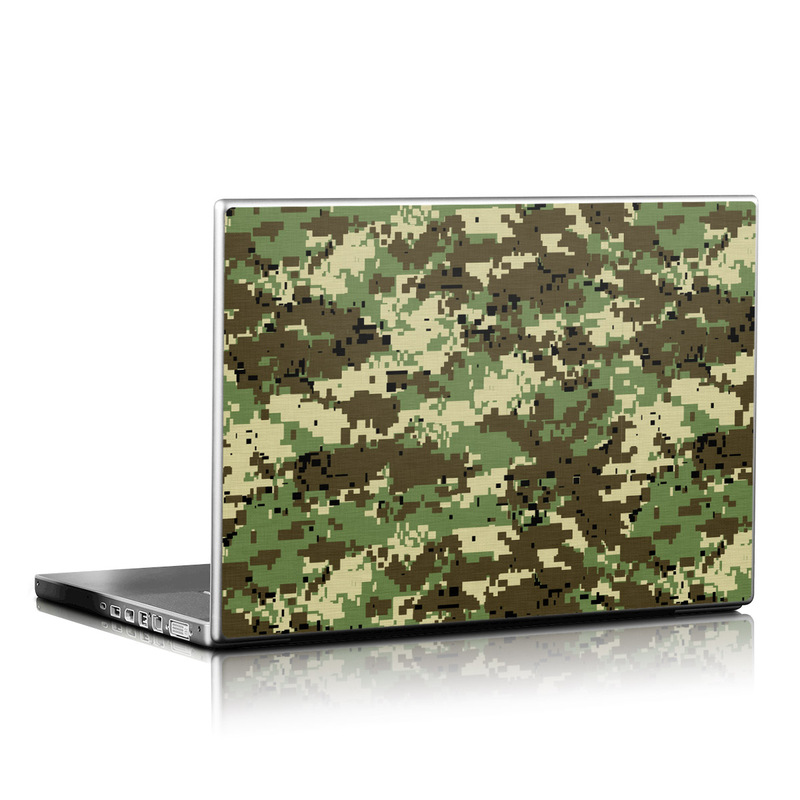 Digital Woodland Camo Laptop Skin