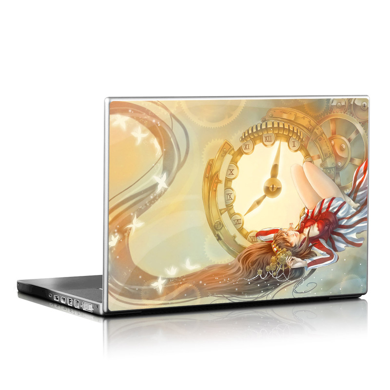 Laptop Skin design of Illustration, Ceiling, Fictional character, Cg artwork, Art with gray, green, red, pink, yellow, black colors