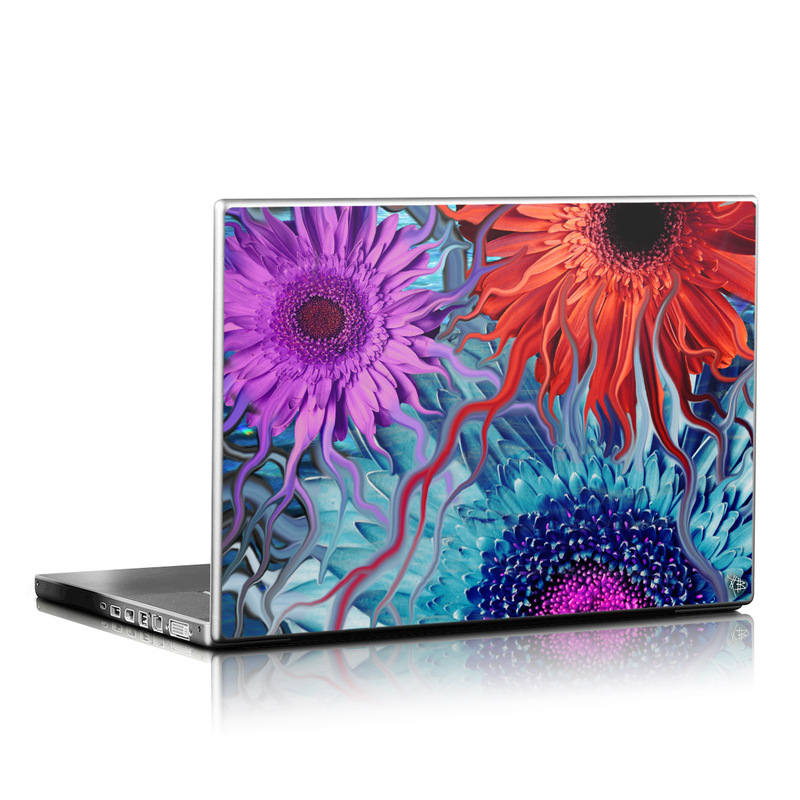 Deep Water Daisy Dance Laptop Skin