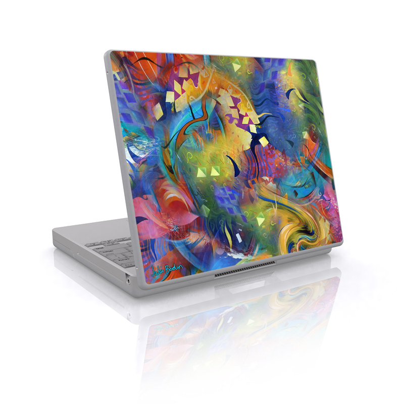 Laptop Skin design of Painting, Modern art, Acrylic paint, Art, Psychedelic art, Visual arts, Watercolor paint, Paint, Graphic design, Graffiti with green, blue, red, black, gray colors