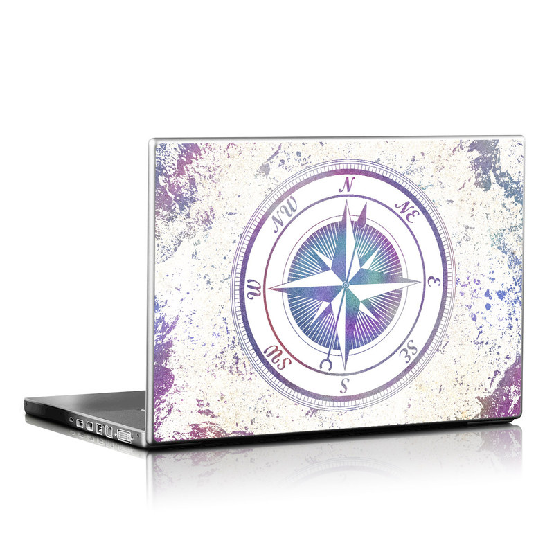 Laptop Skin design of Clock, Circle, Compass, Graphics, Pattern, Illustration, Interior design with gray, white, yellow, pink, purple, blue colors