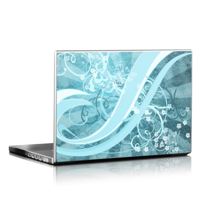 Flores Agua Laptop Skin
