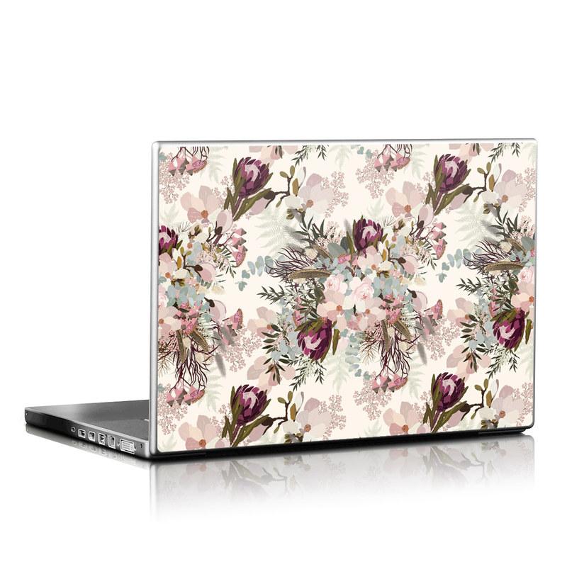 Laptop Skin design of Pink, Pattern, Lilac, Flower, Plant, Petal, Floral design, Textile, Design, Blossom with white, red, pink, blue, brown colors