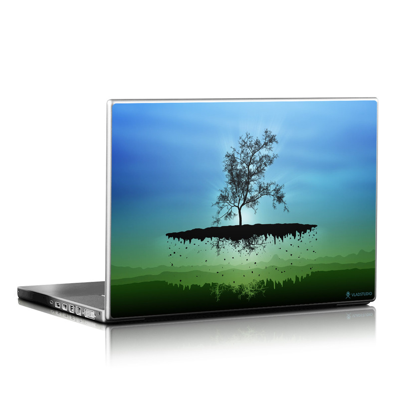 Flying Tree Blue Laptop Skin