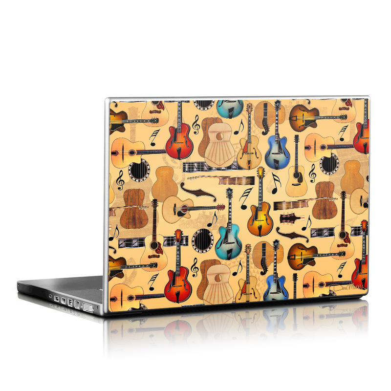 Guitar Collage Laptop Skin