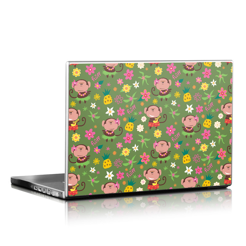 Hula Monkeys Laptop Skin