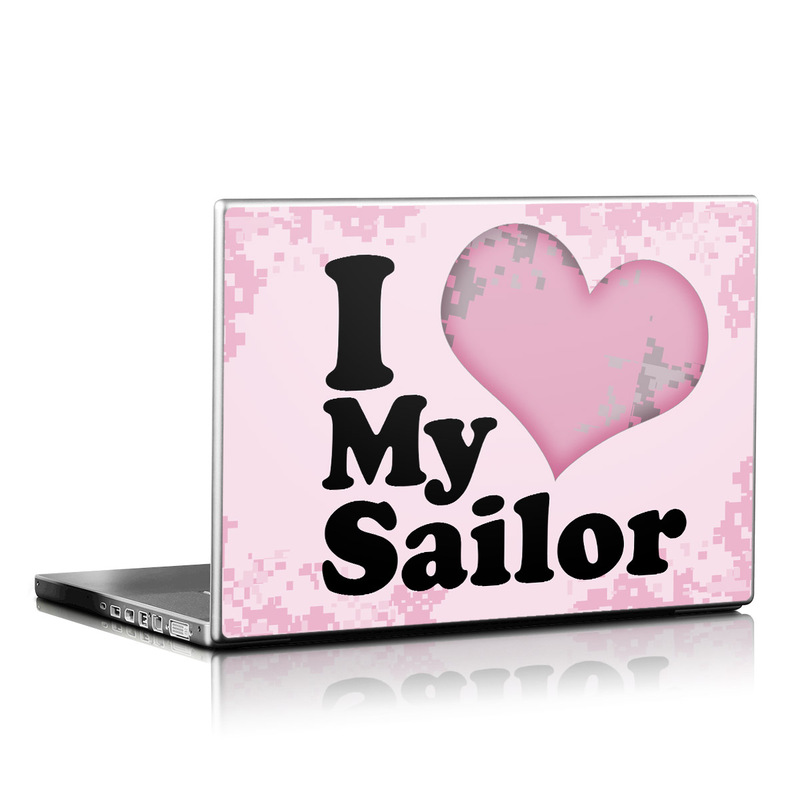 I Love My Sailor Laptop Skin