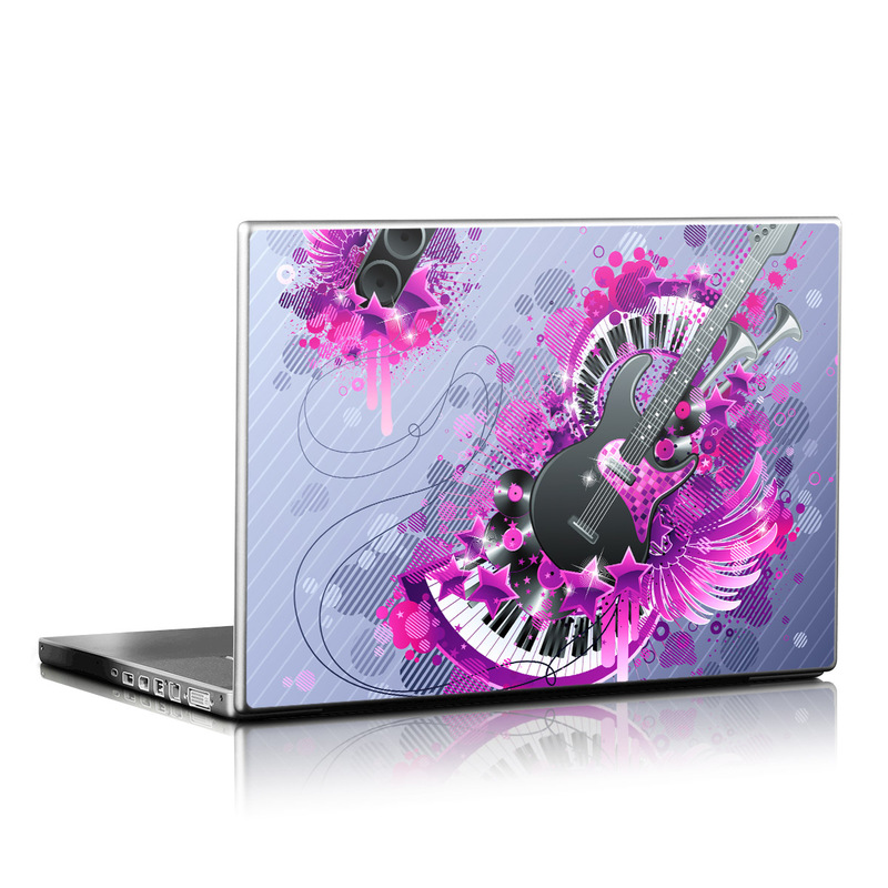 Laptop Skin design of Pink, Graphic design, Purple, Magenta, Text, Violet, Illustration, Design, Graphics, Technology with gray, purple, black, blue colors
