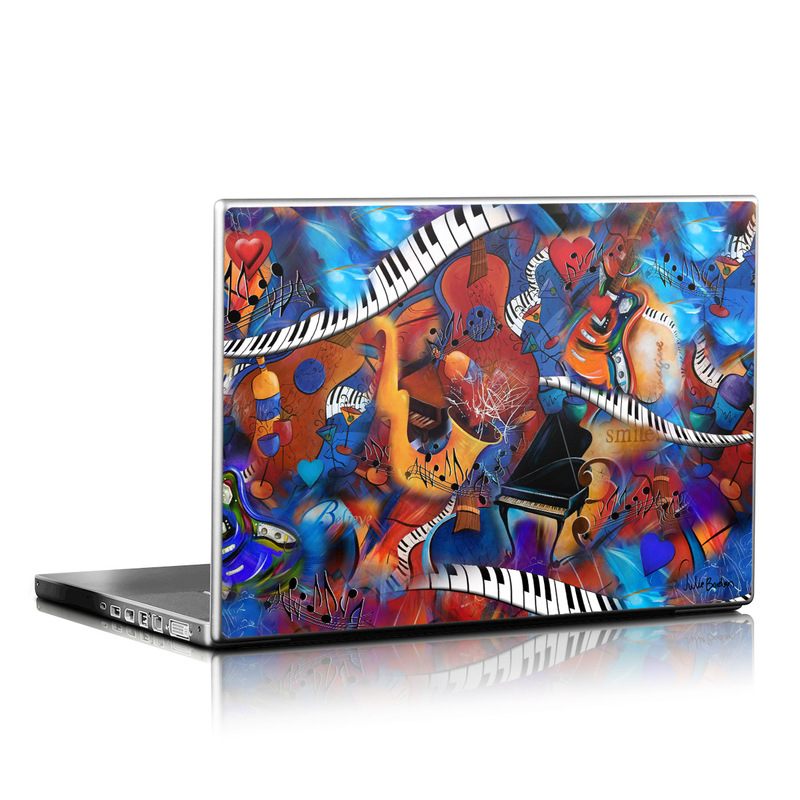 Music Madness Laptop Skin