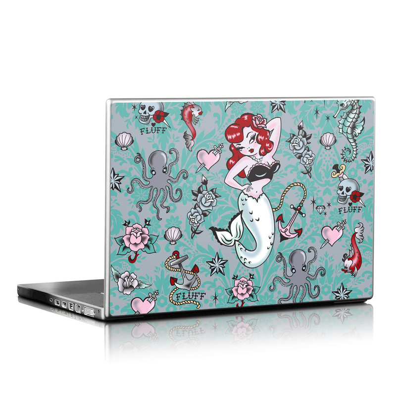 Molly Mermaid Laptop Skin