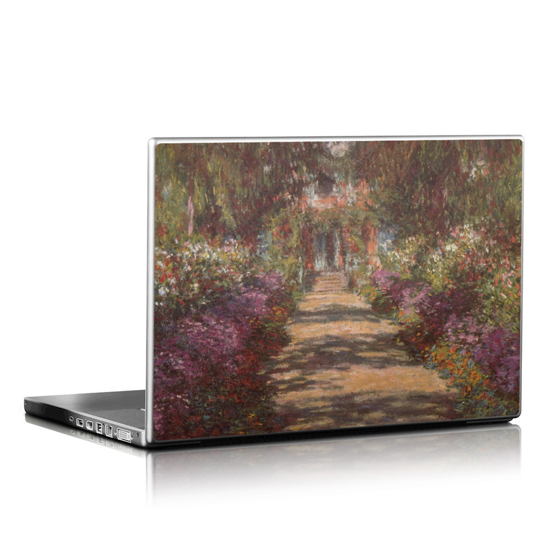 Monet - Garden at Giverny Laptop Skin