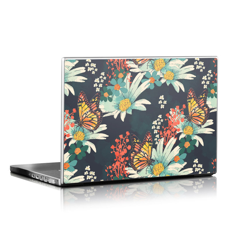 Laptop Skin design of Floral design, Pattern, Flower, Floristry, Textile, Botany, Plant, Visual arts, Design, Flower Arranging with black, gray, green, red, blue, pink colors