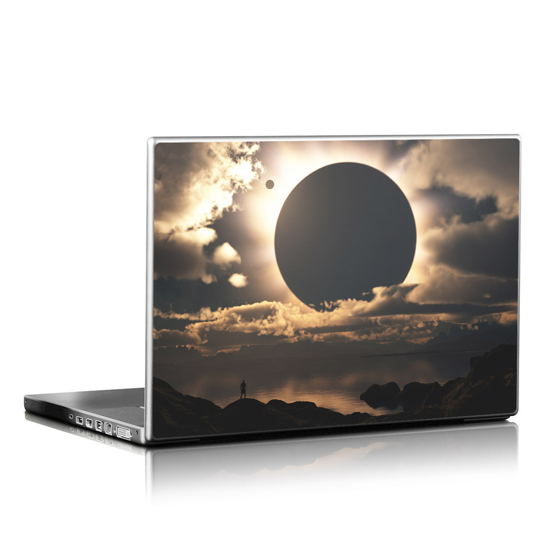 Laptop Skin design of Sky, Cloud, Daytime, Eclipse, Atmosphere, Cumulus, Sunlight, Sun, Astronomical object, Celestial event with black, red, green, gray, pink, yellow colors