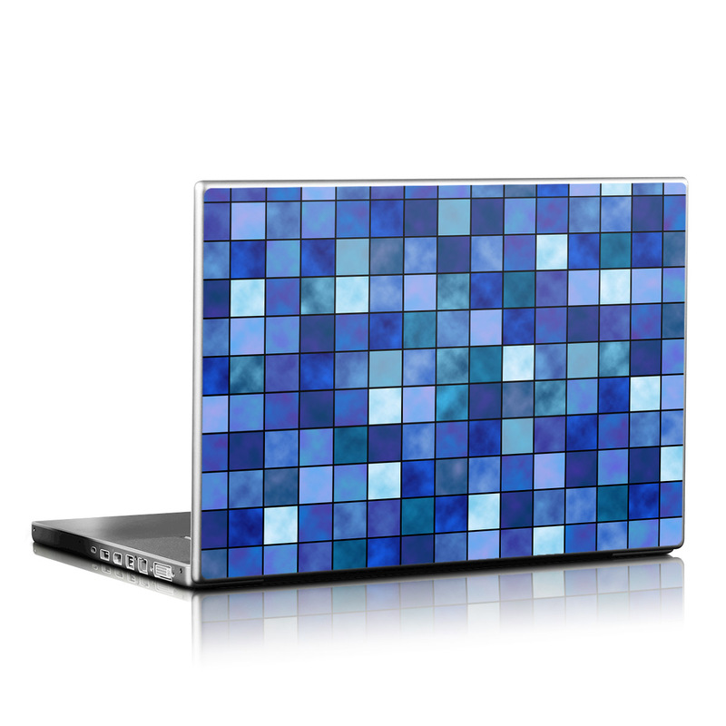 Blue Mosaic Laptop Skin
