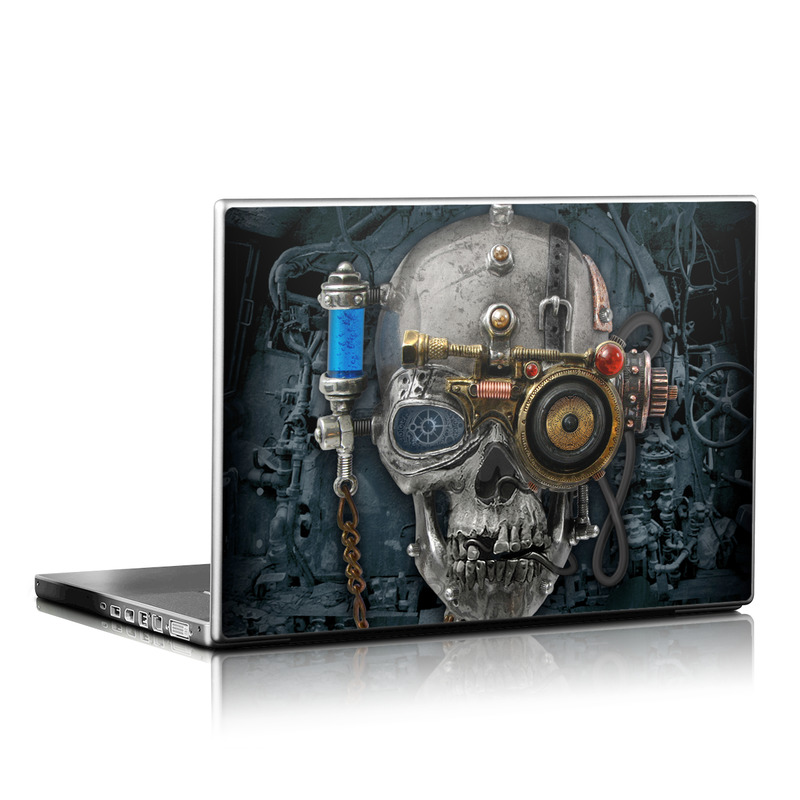 Laptop Skin design of Engine, Auto part, Still life photography, Personal protective equipment, Illustration, Automotive engine part, Art with black, gray, red, green colors