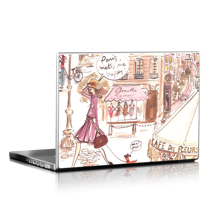 Paris Makes Me Happy Laptop Skin