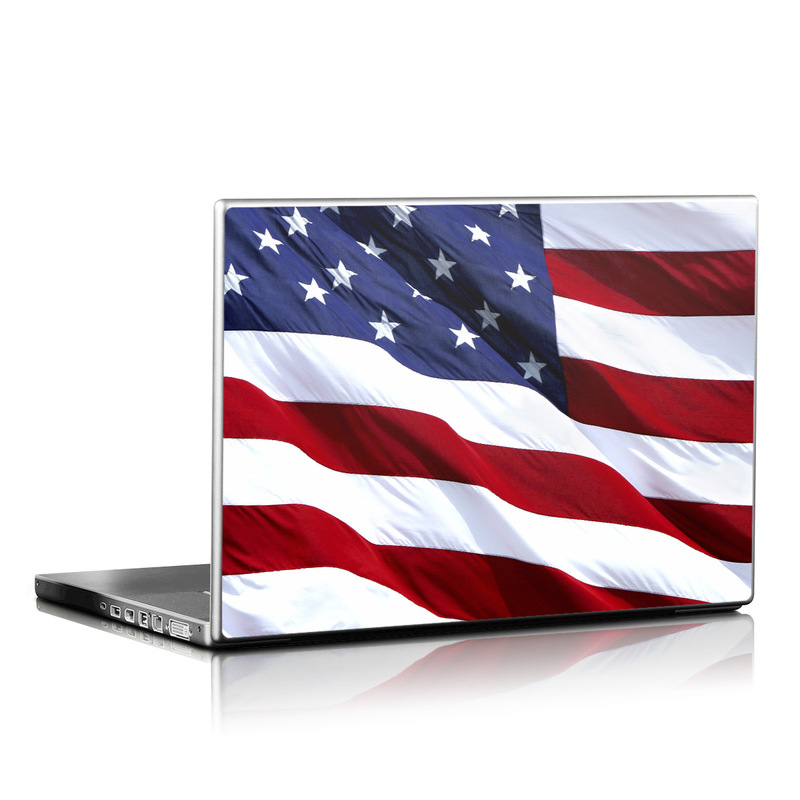 Laptop Skin design of Flag, Flag of the united states, Flag Day (USA), Veterans day, Memorial day, Holiday, Independence day, Event with red, blue, white colors