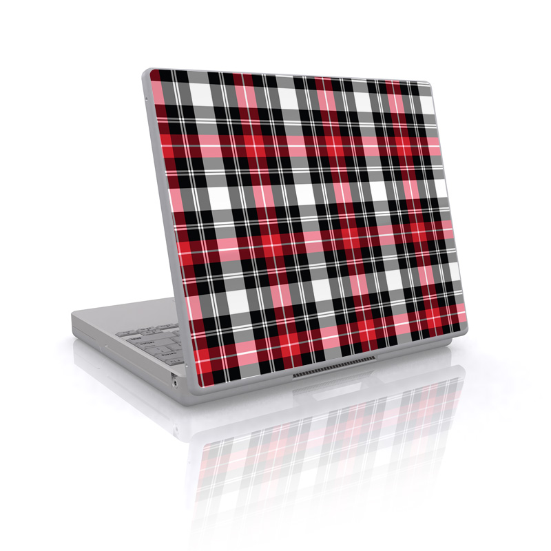 Red Plaid Laptop Skin