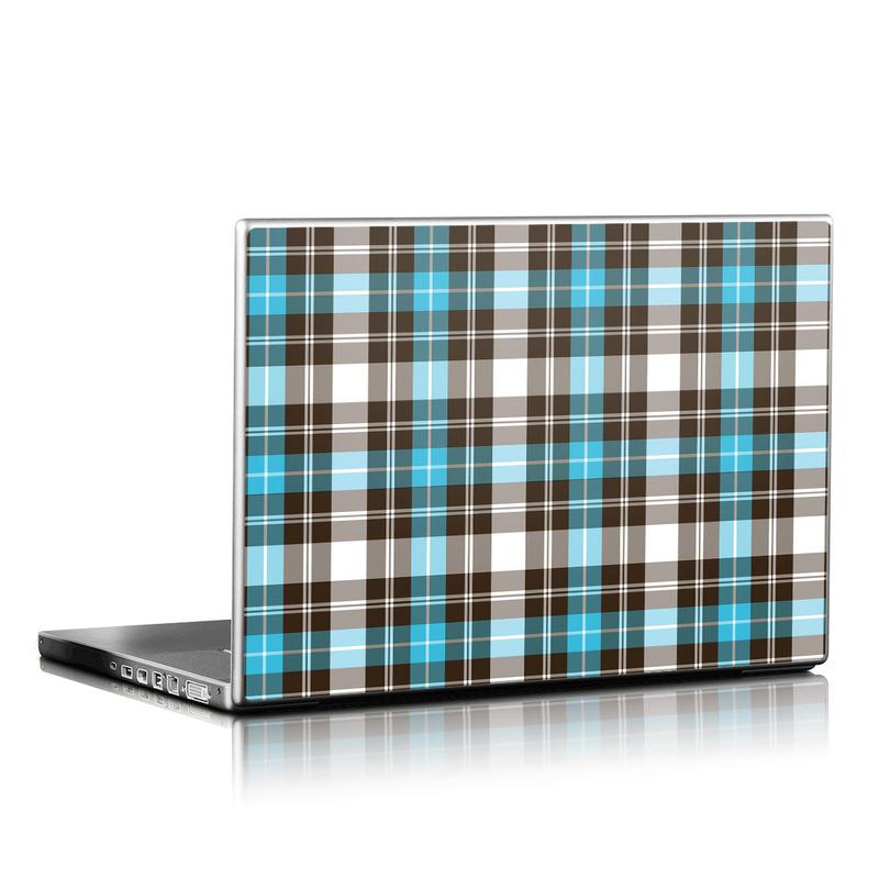 Turquoise Plaid Laptop Skin