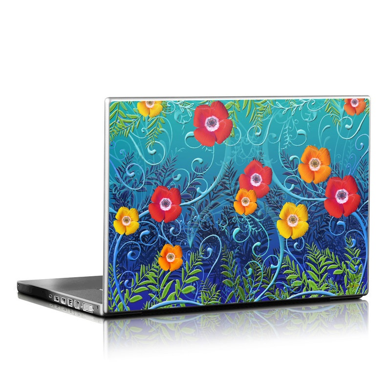 Poppies Laptop Skin