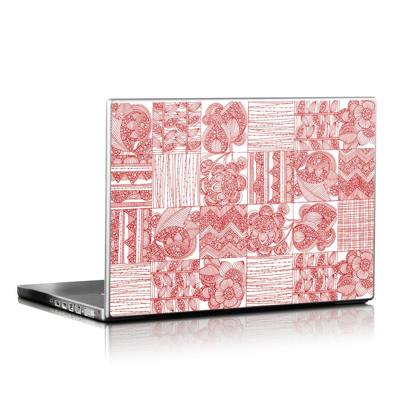 Red Quilt Laptop Skin