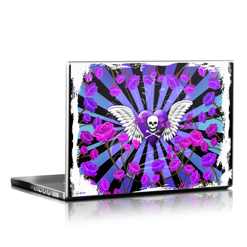 Skull & Roses Purple Laptop Skin