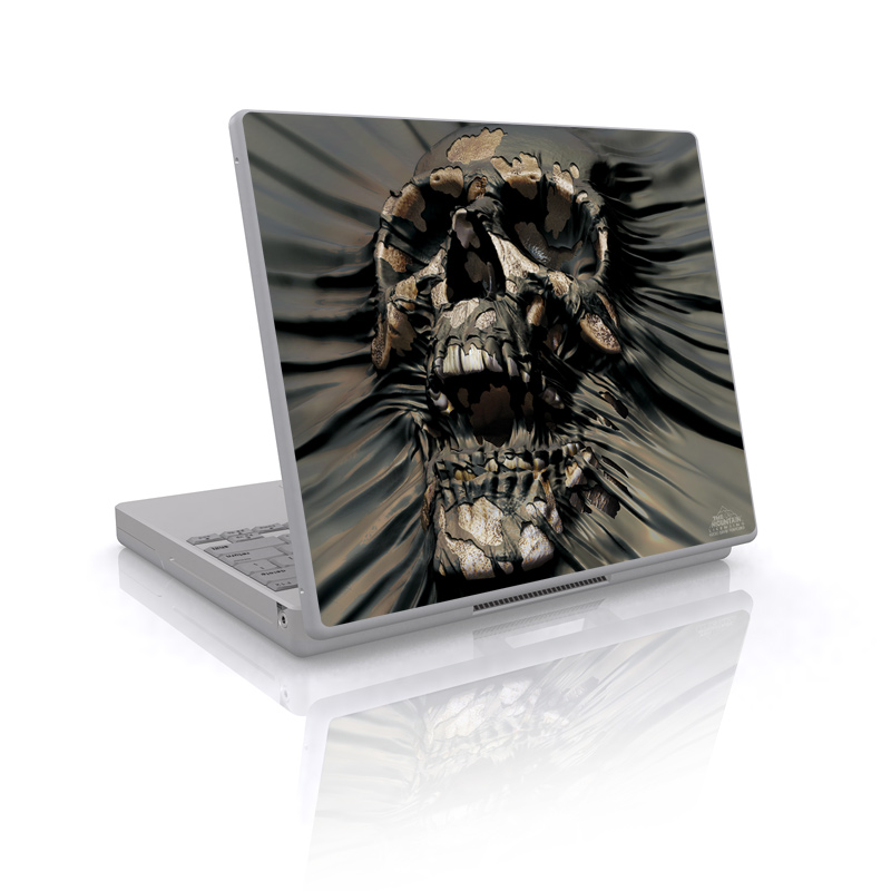 Laptop Skin design of Cg artwork, Fictional character, Illustration, Demon, Fiction, Supervillain, Mythology, Art with black, green, gray, red colors