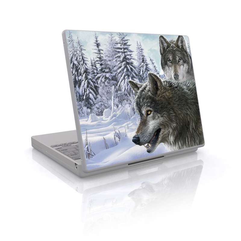 Snow Wolves Laptop Skin