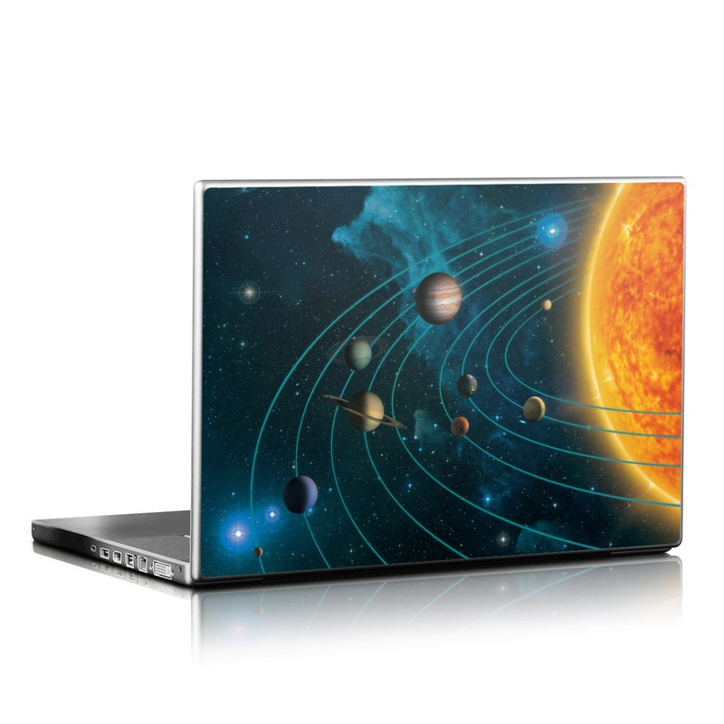 Laptop Skin design of Astronomical object, Universe, Outer space, Galaxy, Astronomy, Atmosphere, Space, Planet, Science, Sky with red, yellow, black, blue, brown, white colors