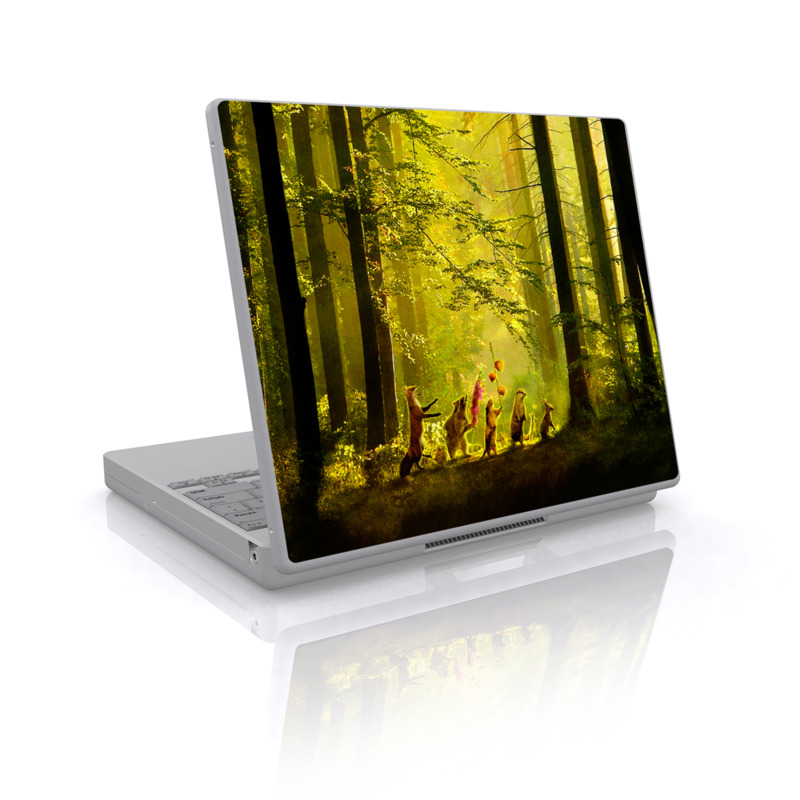 Laptop Skin design of Nature, Natural environment, Light, Forest, Natural landscape, Yellow, Biome, Sunlight, Woodland, Tree with black, green, red colors