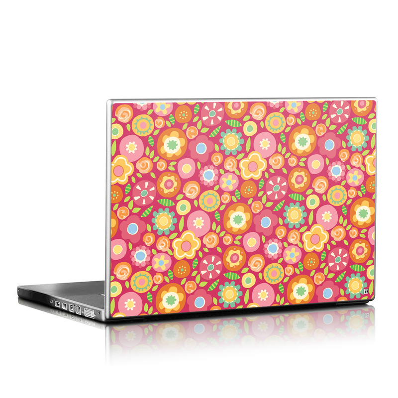 Flowers Squished Laptop Skin