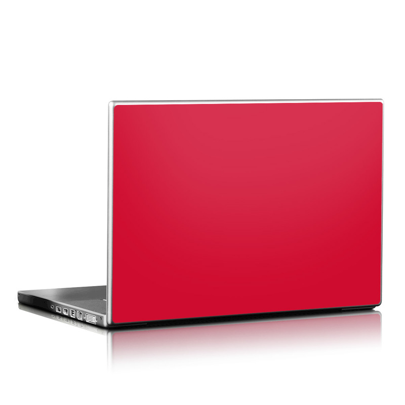 Solid State Red Laptop Skin