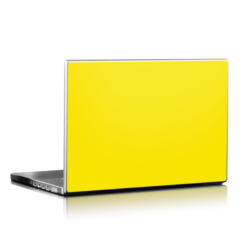 Solid State Yellow Laptop Skin