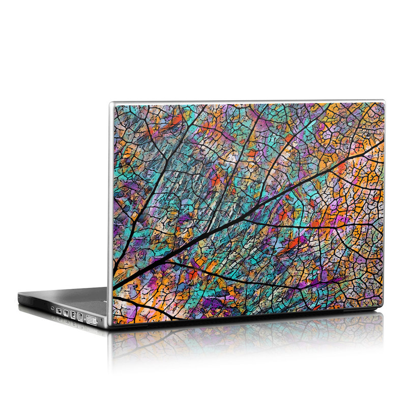 Laptop Skin design of Pattern, Colorfulness, Line, Branch, Tree, Leaf, Design, Visual arts, Glass, Plant with black, gray, red, blue, green colors