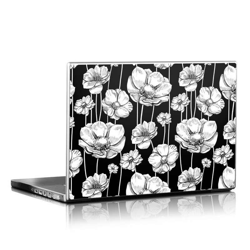 Striped Blooms Laptop Skin