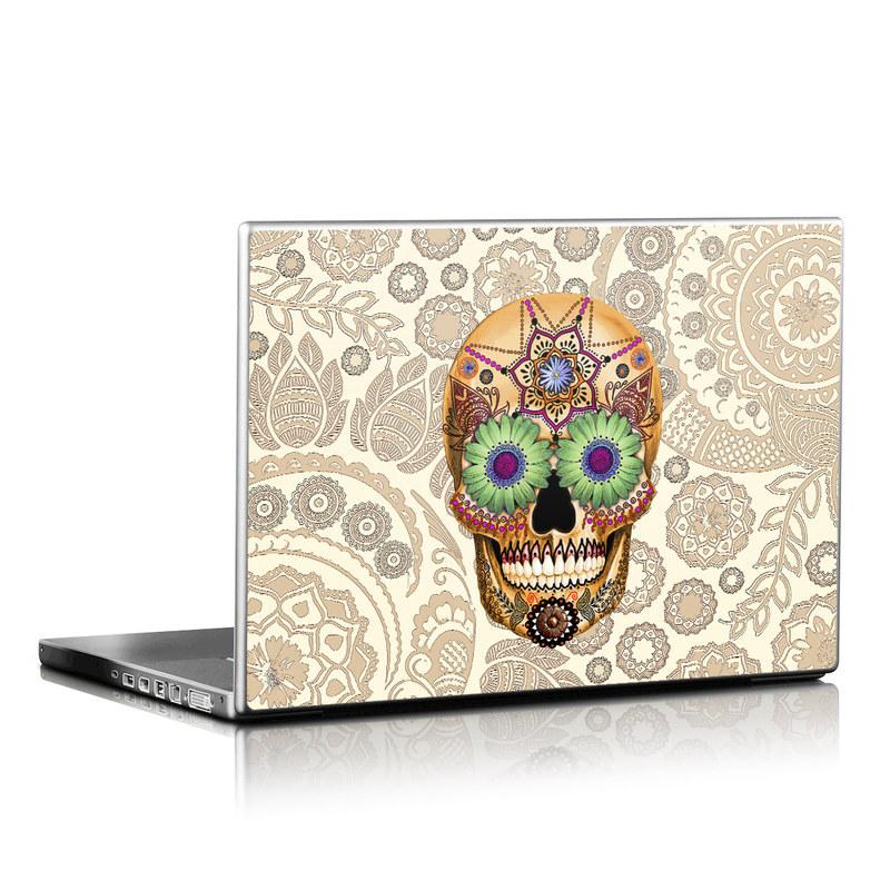 Sugar Skull Bone Laptop Skin